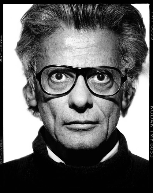 richard avedon self potrait black and white